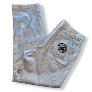 Vintage Iceberg Disney Mushu Silver Coated Jeans